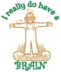 Straw Man Scarecrow embroidery design