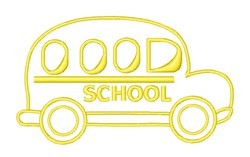 School Buses Rock embroidery design
