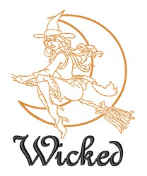 Wicked Witch  Halloween embroidery design