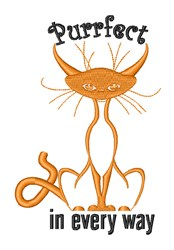 Purrfect Cat embroidery design
