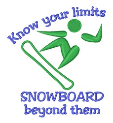 Snowboard Beyond Limits embroidery design