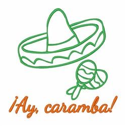 Ay Caramba Sombrero embroidery design