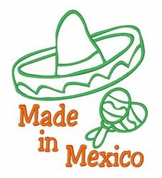 Made In Mexico Sombrero embroidery design