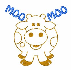 Be Mooed embroidery design