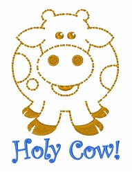 Holy Cow! embroidery design