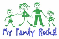 Love Makes Family embroidery design