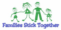 Families Stick Together embroidery design