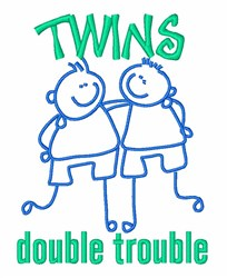 Twins Double Trouble embroidery design