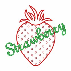 Sweet Strawberry embroidery design
