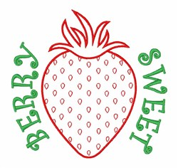 Berry Sweet Strawberry embroidery design