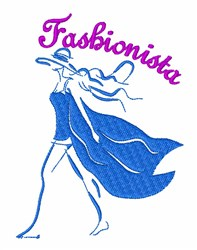 Fashionista embroidery design