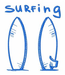 Surfs Up! embroidery design