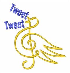 Treble Clef Tweet Tweet embroidery design