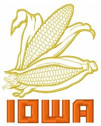 Iowa Corn embroidery design