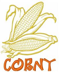 Corny Iowa Vegetable embroidery design