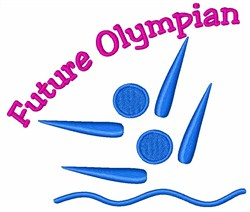 Swimmer Future Olympian embroidery design