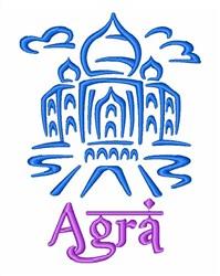 Taj Mahal Agra India embroidery design