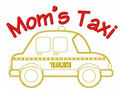 Taxi Car Driver embroidery design