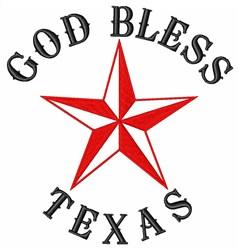 Texas Star Religious embroidery design