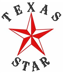 Texas Star  embroidery design