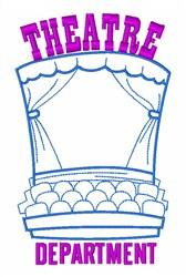 Theatre Department embroidery design