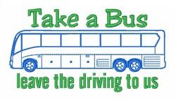 Bus Tour embroidery design