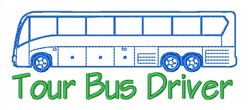 Bus Tour Transportation embroidery design