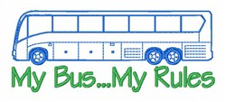 My Bus My Rules embroidery design