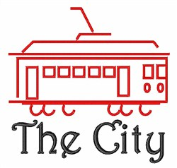 San Francisco Cable Car embroidery design
