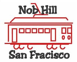 Nob Hill San Francisco embroidery design