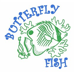 Butterfly Fish Animal embroidery design