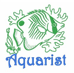 Butterfly Fish Aquarist embroidery design