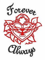 Love Heart Forever embroidery design