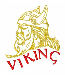 Iceland Viking Head embroidery design