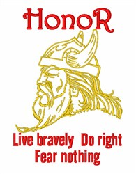 Brave Viking Head embroidery design