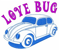 Love Bug Classic Car embroidery design