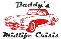 Daddys Midlife Crisis embroidery design