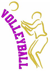 Volleyball Player Sport embroidery design