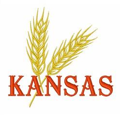 Wheat Stalk Kansas embroidery design