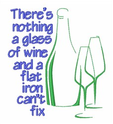 Wine Bottle Glass embroidery design