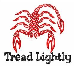 Scorpion Tread Lightly Predator embroidery design
