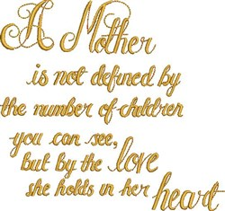 A Mother embroidery design