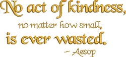 Act Of Kindness embroidery design
