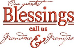 Greatest Blessings embroidery design