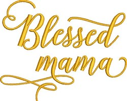 Blessed Mama embroidery design