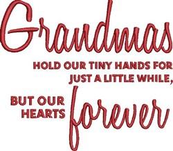 Grandmas Forever embroidery design