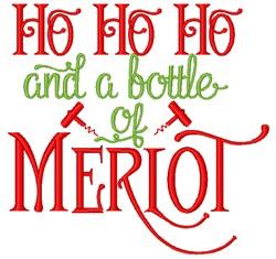 Bottle Of Merlot embroidery design