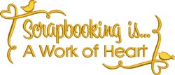 Scrapbooking embroidery design
