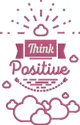 Think Positive embroidery design