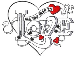 All You Need embroidery design